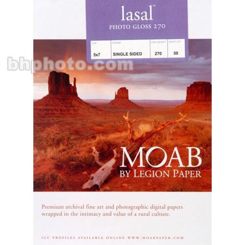 "Moab Lasal Photo Gloss Paper (270 gsm) - 5x7"" - 50 Sheets"