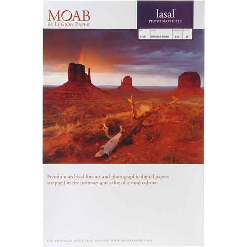 "Moab Lasal Photo Matte 235 (11 x 17"") - Box of 50"
