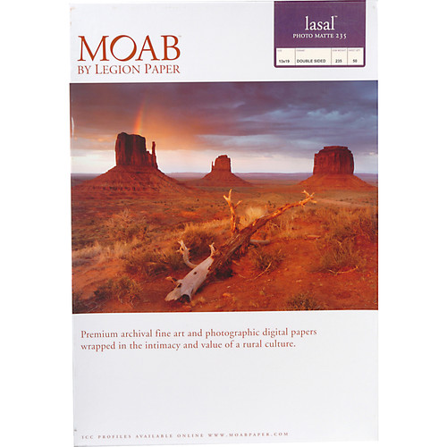 "Moab Lasal Photo Matte 235 (13 x 19"") - Box of 50"