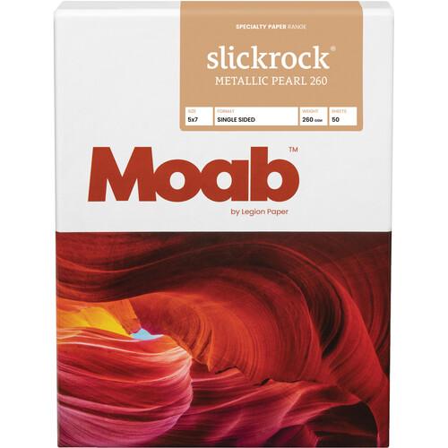 "Moab Slickrock Metallic Pearl 260 (5.0 x 7.0"", 50 Sheets)"