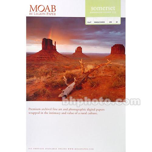 """Moab Somerset Enhanced Velvet 225 Archival Photo Inkjet Paper (11 x 17"""", 25 Sheets)"""