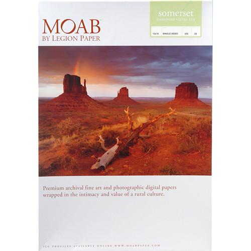 """Moab Somerset Enhanced Velvet 225 Archival Photo Inkjet Paper (13 x 19"""", 25 Sheets)"""