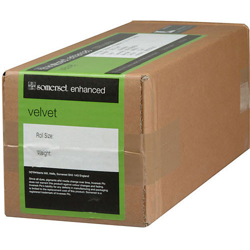 "Moab Somerset Enhanced Velvet 24"" x 100' Paper (255 GSM)"