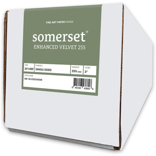 """Moab Somerset Enhanced Velvet 255 (24"""" x 100' Roll)"""