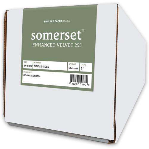 """Moab Somerset Enhanced Velvet 44"""" x 100' Paper (255 GSM)"""