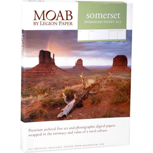 """Moab Somerset Enhanced Velvet 255 (46.75 x 35"""", 25 Sheets)"""