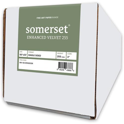 """Moab Somerset Enhanced Velvet 60"""" x 33' Paper (255 GSM)"""