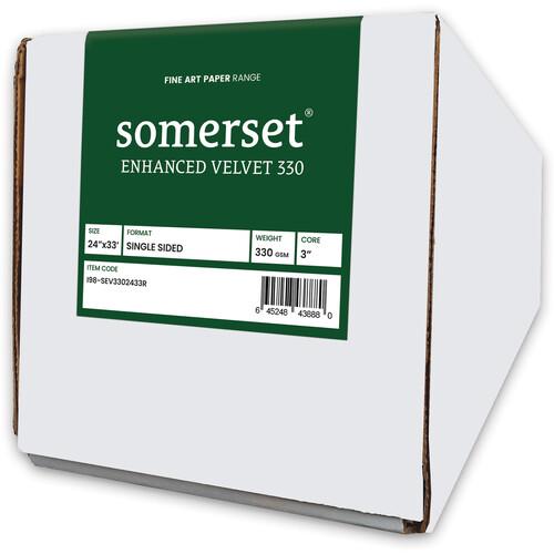 """Moab Somerset Enhanced Velvet 330 (24"""" x 33' Roll)"""