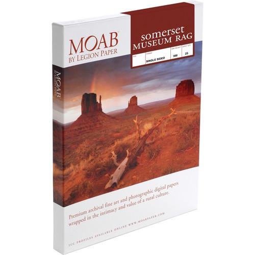 "Moab Somerset Museum Rag 300 (17 x 22"", 25 Sheets)"
