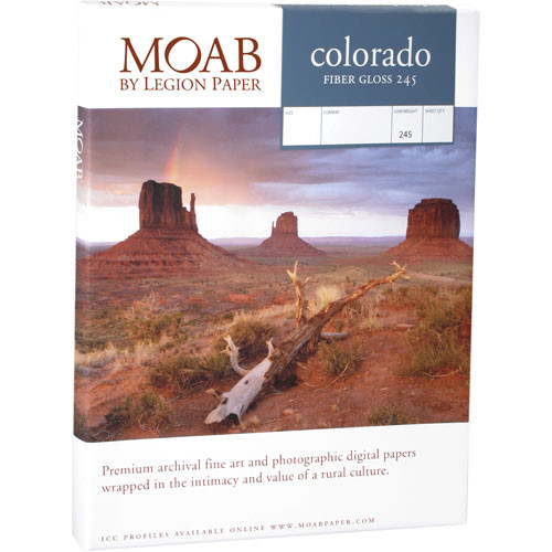"Moab Colorado Fiber Gloss Paper for Inkjet - 8.5x11"" (Letter) - 25 Sheets"