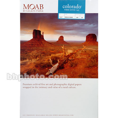 "Moab Colorado Fiber Paper for Inkjet (11 x 17"", Satine, 25 Sheets)"