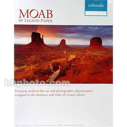 "Moab Colorado Fiber Paper for Inkjet (13 x 19"", Satine, 25 Sheets)"