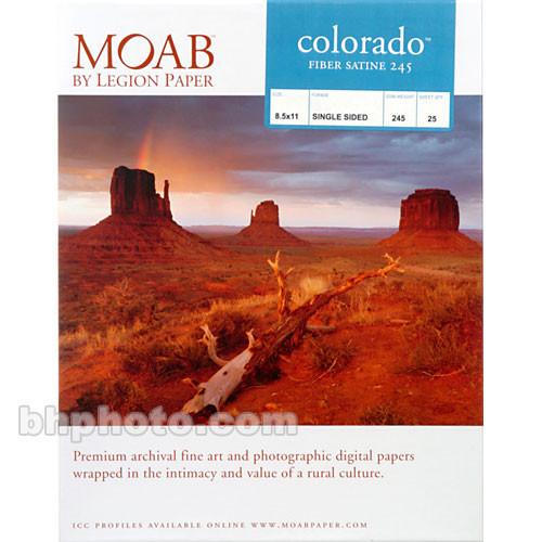 "Moab Colorado Fiber Paper for Inkjet (8.5 x 11"", Satine, 25 Sheets)"