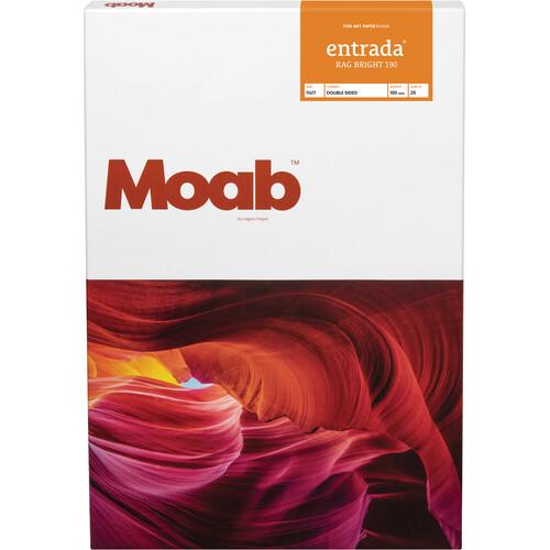 "Moab Entrada Rag Bright 190 Paper (11 x 17"", 25 Sheets)"