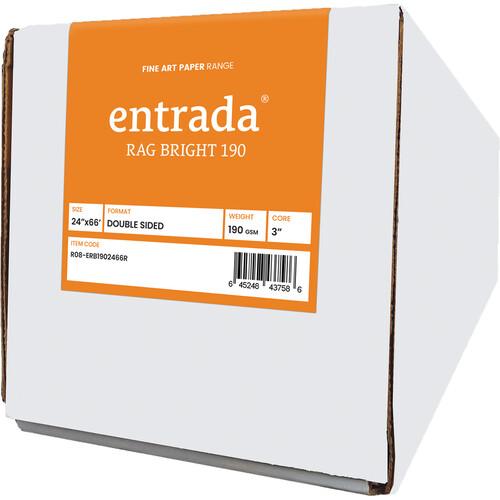 "Moab Entrada Rag Bright 190 Archival Inkjet Paper (24"" x 66' Roll)"