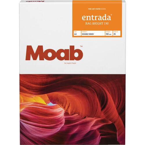 """Moab Entrada Rag Bright 190 Paper (A4 8.3 x 11.7"""", 25 Sheets)"""