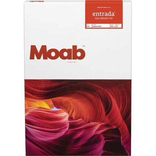 "Moab Entrada Rag Bright 300 Paper for Inkjet (11x17"", 25 Sheets)"