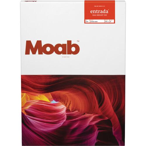 "Moab Entrada Rag Bright 300 Paper for Inkjet (13x19"", 25 Sheets)"