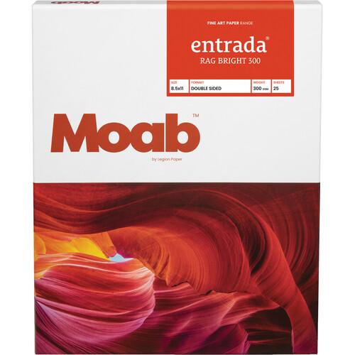 "Moab Entrada Rag Bright 300 Paper (8.5 x 11"", 25 Sheets)"