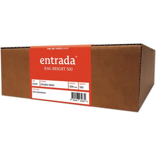 "Moab Entrada Rag Bright 300 Paper (8.5 x 11"", 100 Sheets)"
