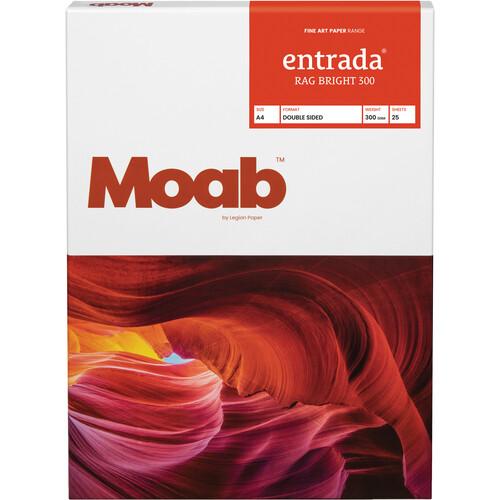 """Moab Entrada Rag Bright 300 Paper (A4 8.3 x 11.7"""", 25 Sheets)"""
