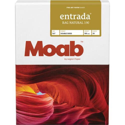 "Moab Entrada Rag Natural 190 Paper (5 x 7"", 25 Sheets)"