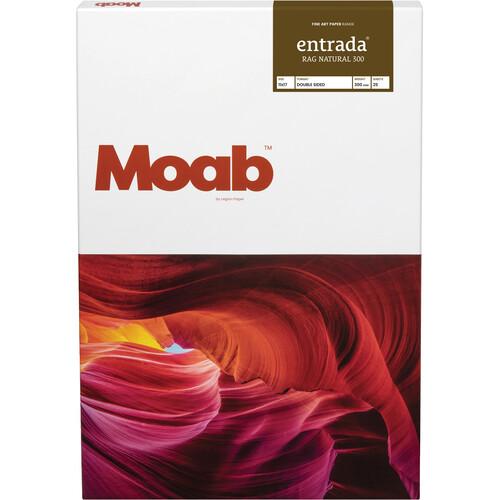 "Moab Entrada Rag Natural 300 Paper (11 x 17"", 25 Sheets)"