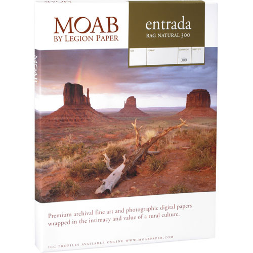 "Moab Entrada Rag Natural 300 Paper (24 x 30"", 25 Sheets)"