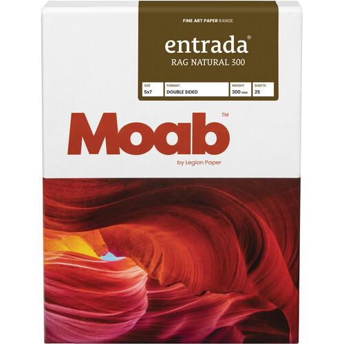 "Moab Entrada Rag Natural 300 Paper (5 x 7"", 25 Sheets)"
