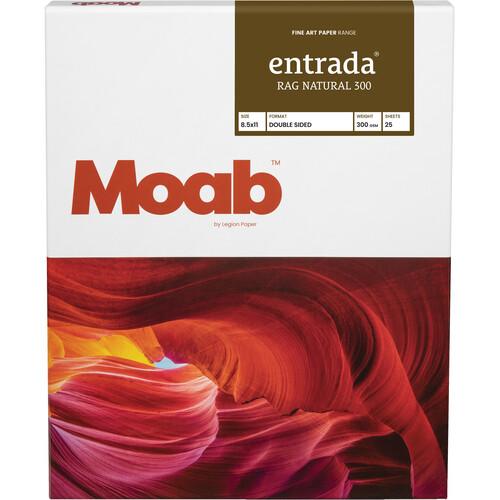 "Moab Entrada Rag Natural 300 Paper (8.5 x 11"", 25 Sheets)"