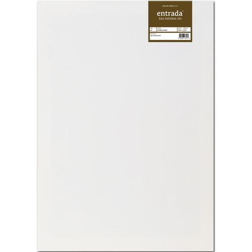 """Moab Entrada Rag Natural 300 Paper (A2 16.5 x 23.4"""", 25 Sheets)"""