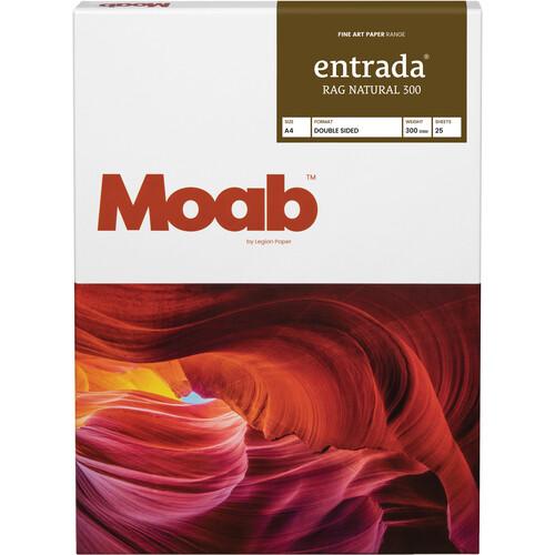 """Moab Entrada Rag Natural 300 Paper (A4 8.3 x 11.7"""", 25 Sheets)"""