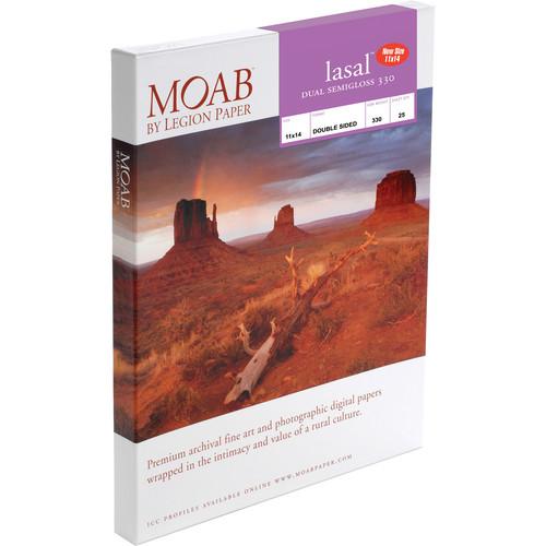 "Moab Lasal Dual Semigloss 330 Paper (11 x 14"", 25 Sheets)"