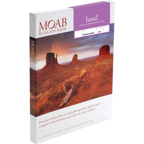 "Moab Lasal Dual Semigloss 330 Paper (8.5 x 11"", 25 Sheets)"