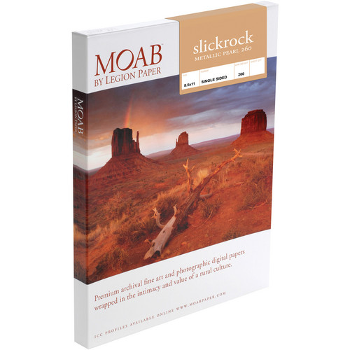 "Moab Slickrock Metallic Pearl 260 (8.5 x 11"", 25 Sheets)"