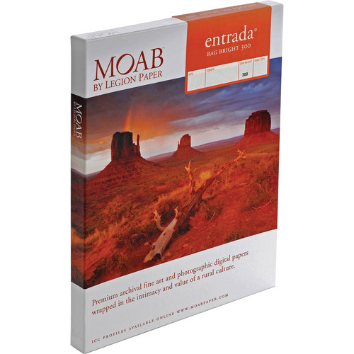 "Moab Entrada Rag Bright 300 (17 x 25"", 50 Sheets)"