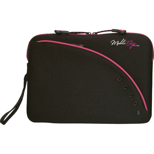 "Mobile Edge Ultra Portable / Netbook Sleeve 8.9"" (Black/Pink)"