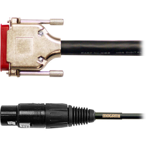 Mogami Gold AES/EBU DB-25 to 4 XLR Male & 4 XLR Female Digital Audio Cable - 10'