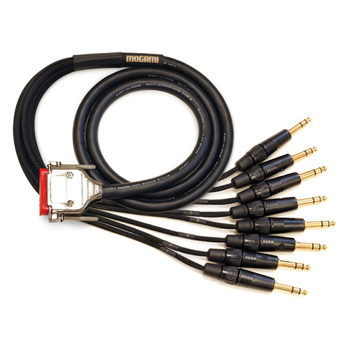 "Mogami 8-Channel DB25 to 1/4"" TRS Analog Audio Cable (50')"