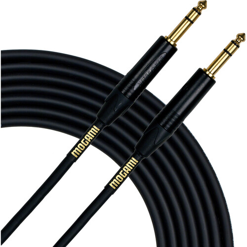 "Mogami Gold 1/4"" TRS Male to 1/4"" TRS Male Balanced Cable (3')"