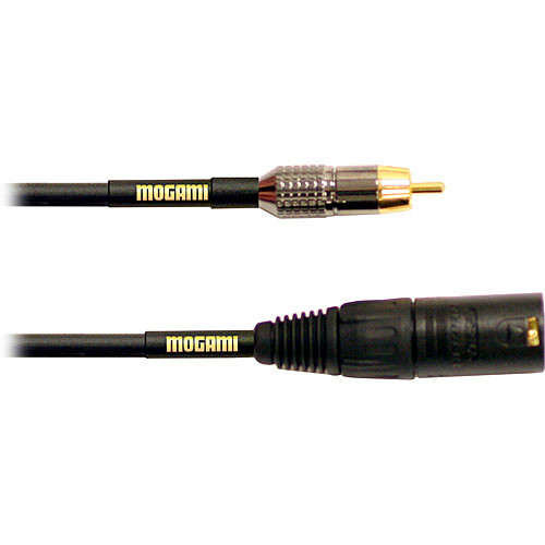 Mogami Gold XLR Male to RCA Male Patch Cable - 12'