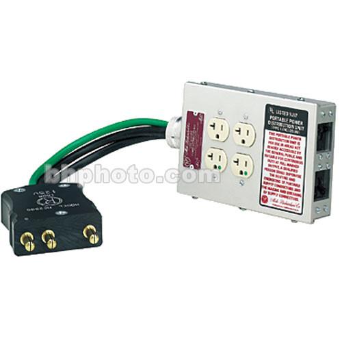 Mole-Richardson 4 Edison Plug Gangbox to 100 Amp Bates