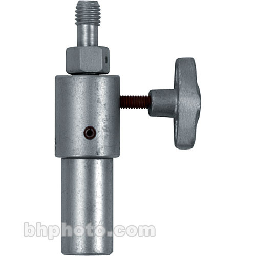 "Mole-Richardson Adapter: 1/2""-13 Thread to Junior (1-1/8"") Flat-End Pin"