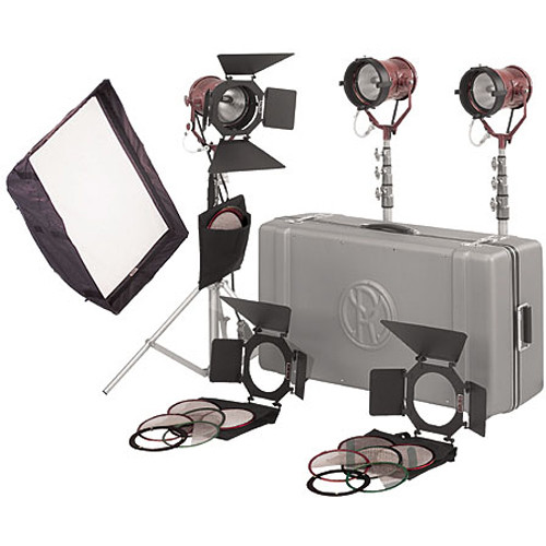 Mole-Richardson Teenie-Mole Open Face 3-Light Pro Kit
