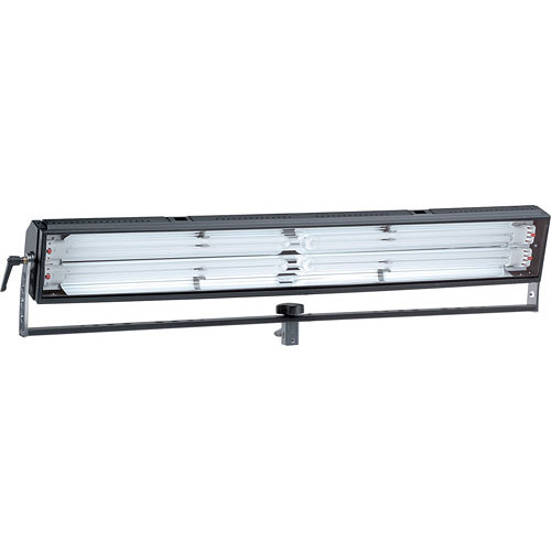 Mole-Richardson Biax-4L Fluorescent Long Fixture with Yoke, Phase Dimming - 220 Total Watts (120V AC)