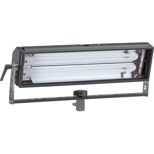 Mole-Richardson Biax-2 Fluorescent Light with Yoke, Local Dimming - 110 Total Watts (120V AC)