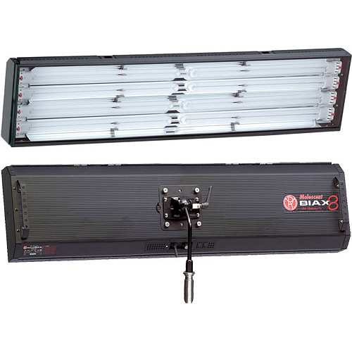 Mole-Richardson Biax-8L Omni Fluorescent Long Fixture with Local, DMX Dimming - 440 Total Watts (120V AC)