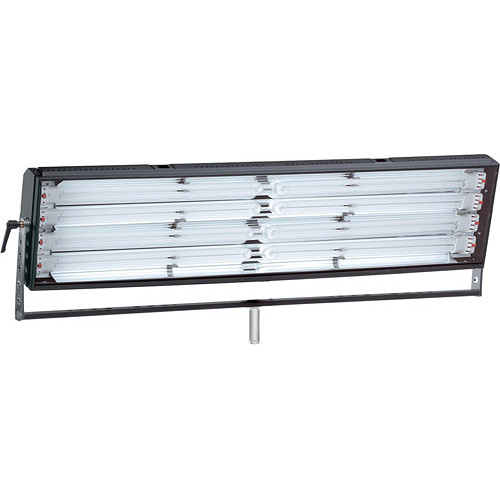 Mole-Richardson Biax-8L Fluorescent Long Fixture with Yoke, Local, DMX Dimming - 440 Total Watts (120V AC)