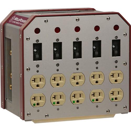 Mole-Richardson Duplex Distribution Box, Feed-Through - 100 Amps