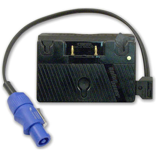 Mole-Richardson Battery Plate with Power Cable (Gold Mount)